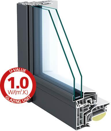 Standaard glas Thermal HR++ geharde beglazing (T)